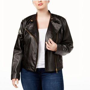 Michael Kors Vegan Leather Women's Moto Jacket -12